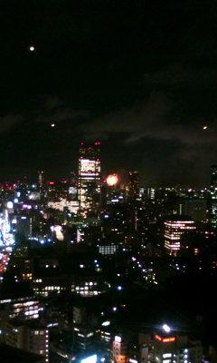 東京タワーから神宮花火大会